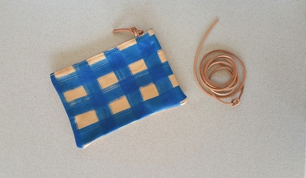 Pine and Boon Blue Plaid Clutch