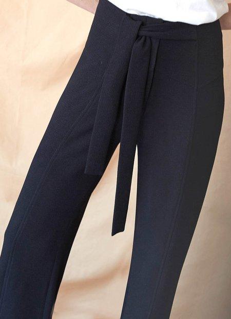 Intropia Tailored Tie Pants - BLACK