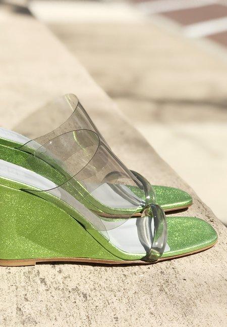 Maryam Nassir Zadeh Olympia Wedge - Metallic Lime