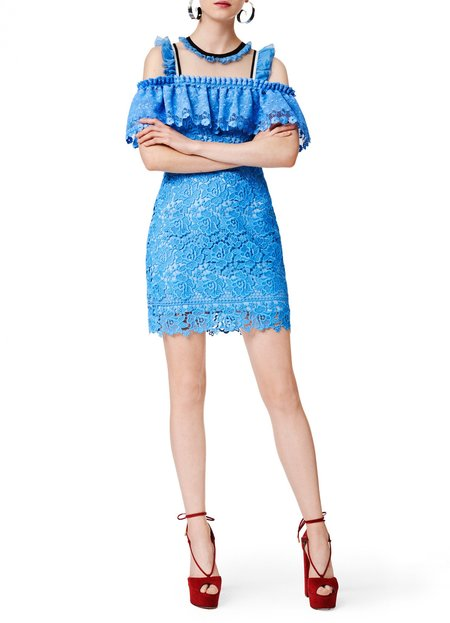 Three Floor Bluebell Dress - Blue