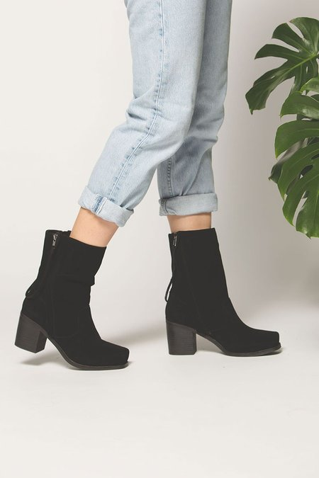 """""""Intentionally __________."""" Poncho Slouch Boot - Black"""