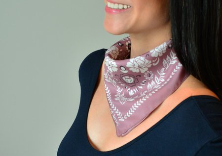 Squar'd Away The Desert Rose scarf – Rosewood