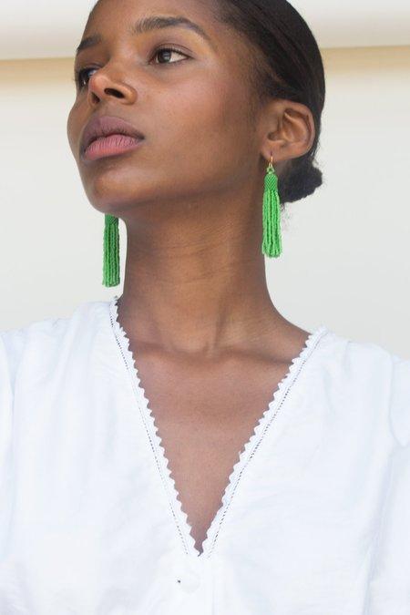 Zartiztry Tassel Earrings - Green