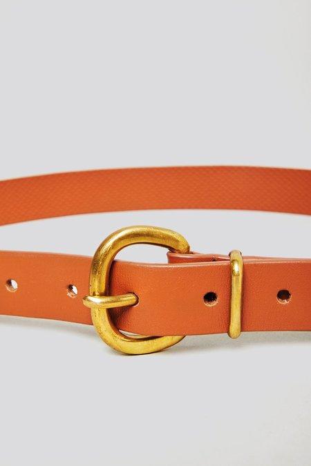Rachel Comey Thin Estate Belt - Tawny Polished Leather