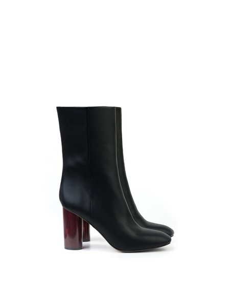 Sydney Brown Mid-Calf Ankle Boot - Black