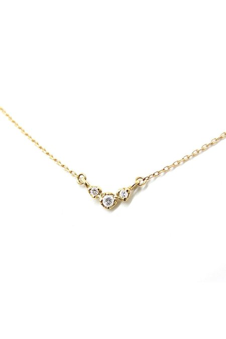 n + a Three Buds Necklace - 14k Yellow Gold