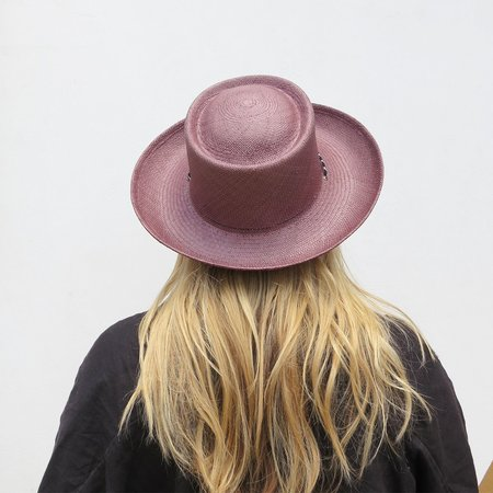 Clyde Gambler Hat - Dark Mauve