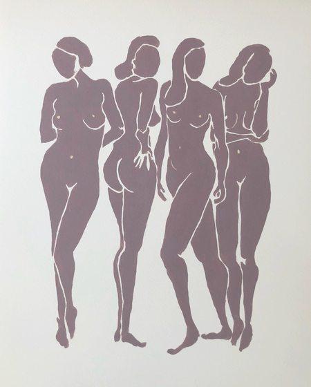 Found FOUR WOMEN giclee print
