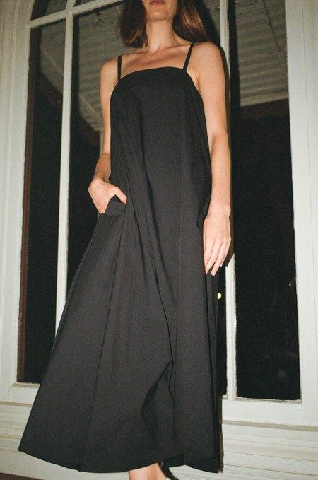 Sayaka Davis Asymmetrical Hem Dress - Black