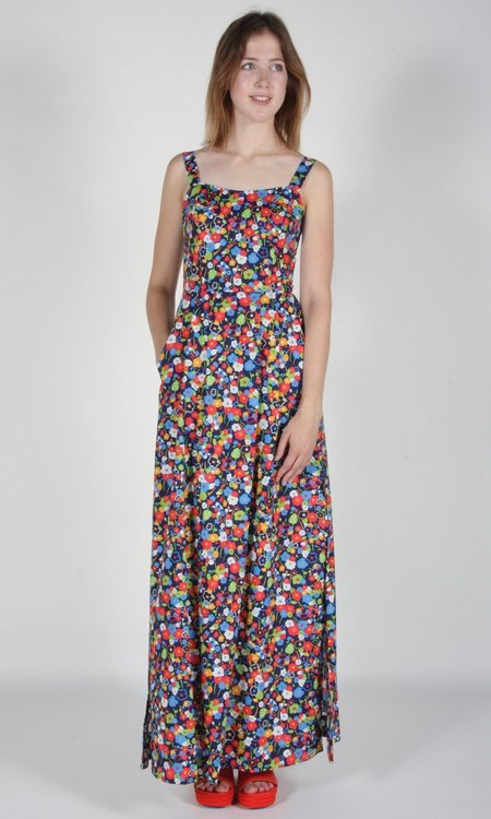 Birds of North America Oropendola Dress - Navy London Floral