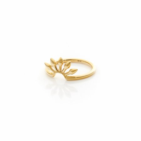 Silk & Steel Axis Stacker Ring - Gold