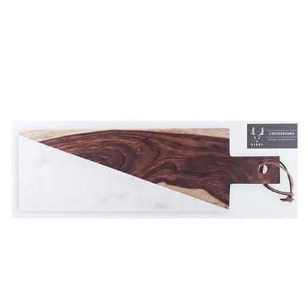 Viski Marble and Indian Rosewood Cheese Board