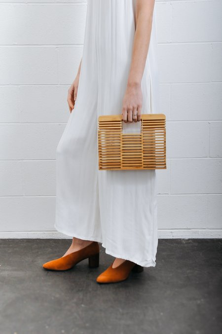 Pipe And Row Bamboo Box Handbag