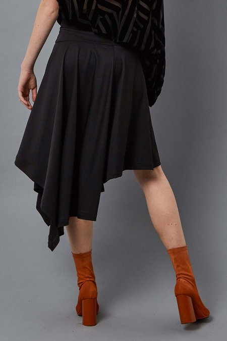 Taylor Radiate Wrap Skirt - BLACK