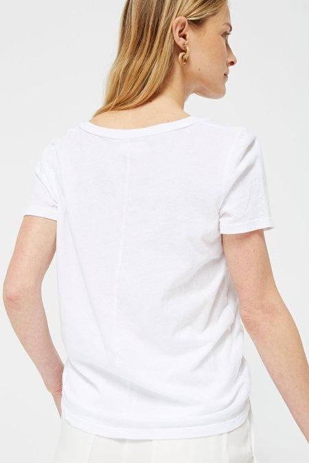 Lacausa CLASSIC V TEE - WHITE