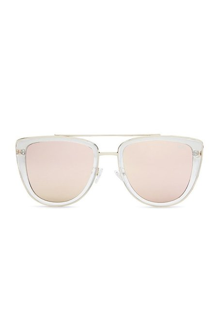 Quay FRENCH KISS SUNGLASSES - CLEAR ROSE
