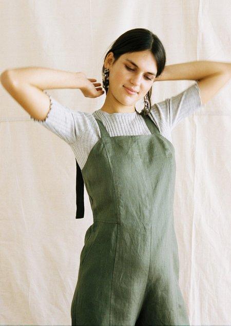 Hej Hej Limited Heron in Linen Jumpsuit - Olive