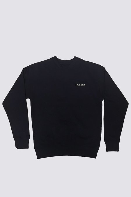 Assembly New York Cotton New York Logo Crewneck - Black