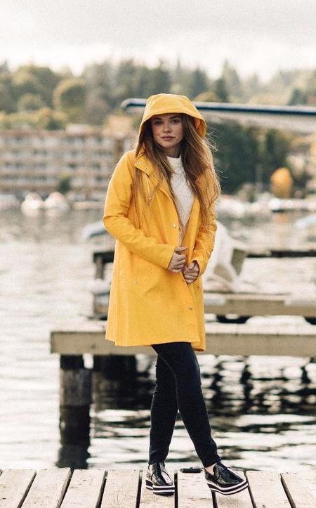 Stutterheim Mosebacke Rain Jacket - Yellow