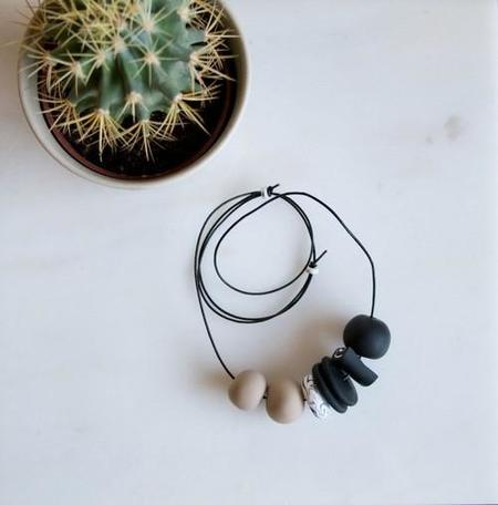 Sea + Pattern NECKLACE - GREY SCALE