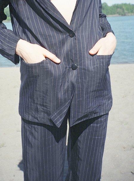 Shaina Mote Nyoto Pinstripe Jacket - Navy