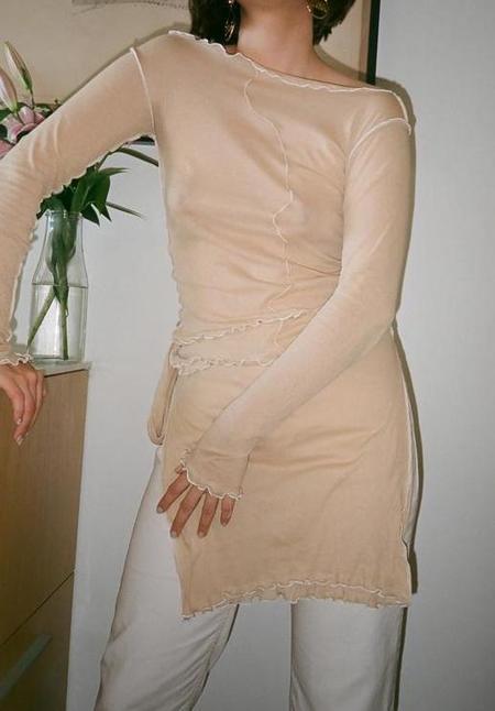 Baserange Codeiro Long Sleeve Tee - beige