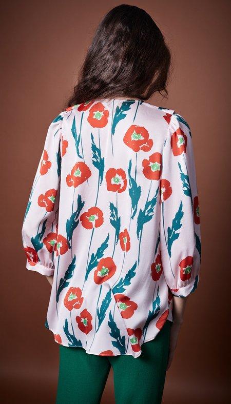 Smythe Ruffle Blouse - Poppy Floral