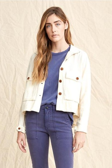 The Great. The Swingy Army Jacket - Cream