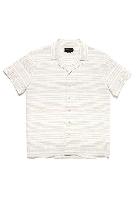 Outclass Barre Stripe Havana Shirt - Taupe