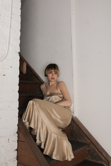 Ajaie Alaie Flamenca Skirt - Gold