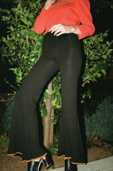 Maria Dora Margaux Crop Flare Pant - Tabac/Black