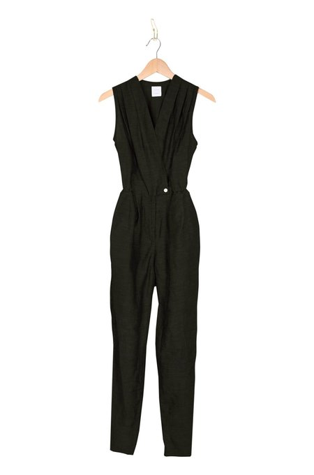 Coast High Pleated Jumpsuit - Black
