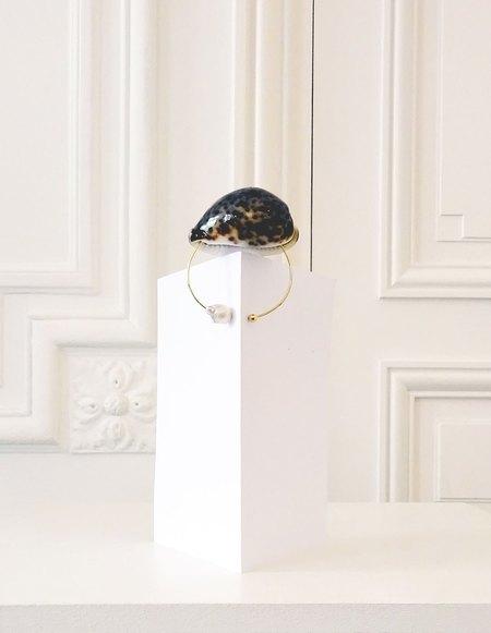 Peet Dullaert Tiger Shell Bracelet  - 14k Gold Plating