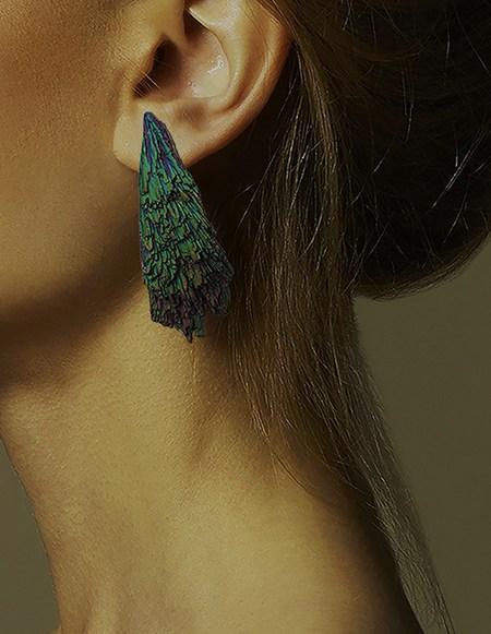 Peet Dullaert Asteroid Earring - Green