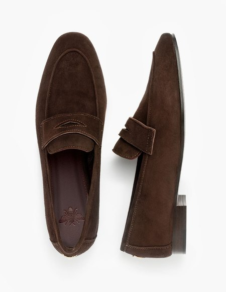 Bougeotte Suede Flaneur Loafer - Brown