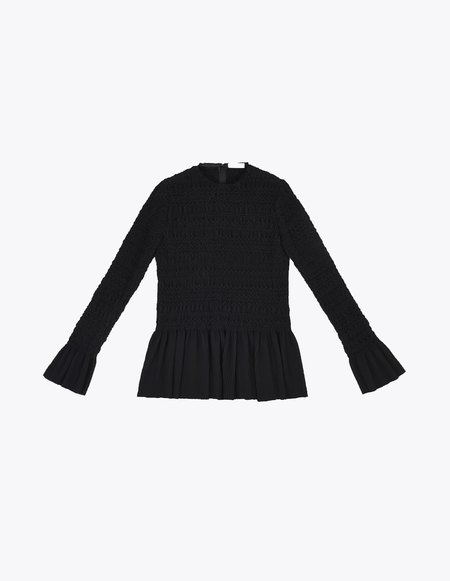 Ms Min Embroidered Shirt - Black
