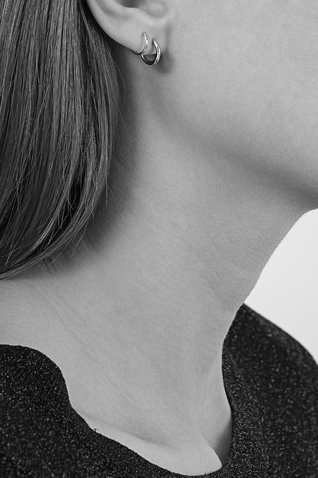 Maria Black Silver Dogma Twirl Left Earring - Silver