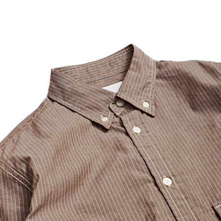 Unisex And Wander Stripe Shirt - Brown