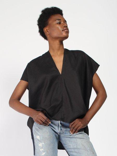 Miranda Bennett Everyday Linen Top - Black
