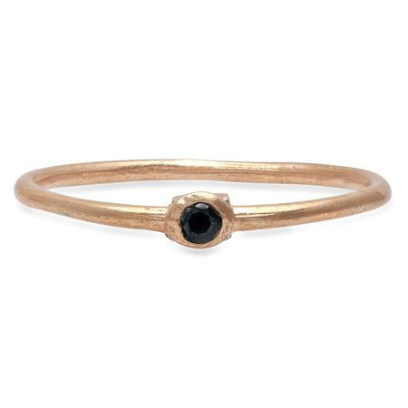 Studio Grun Single Crown Ring - Bronze/Black Spinel