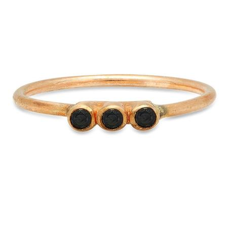 Studio Grun Triple Crown Ring - Bronze + Black Spinel