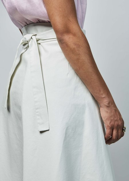 Sibel Saral Ayosh Wrap Skirt - chalk