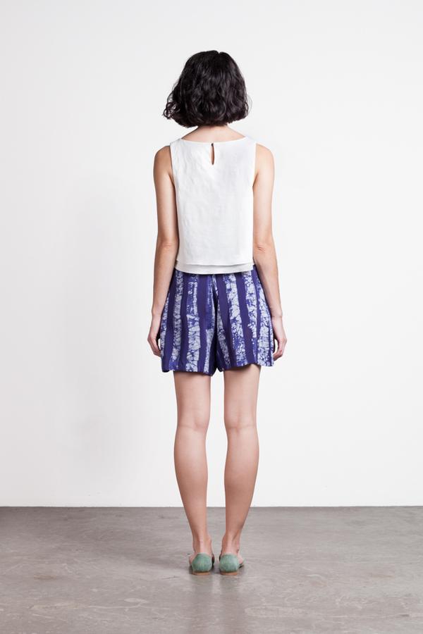 Osei-Duro Lorem Pleated Shorts