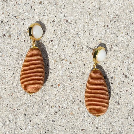 Lizzie Fortunato Drop Earrings - Terracotta
