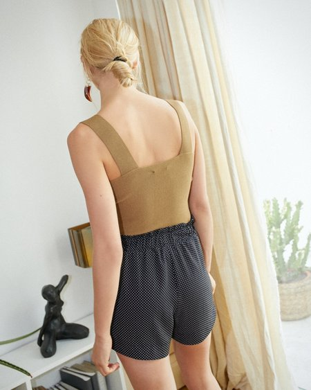 Nanushka LORA Paperbag shorts - Caviar dots