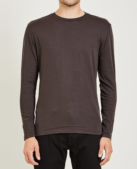 321 CREW NECK LONG SLEEVE TEE - BLACK