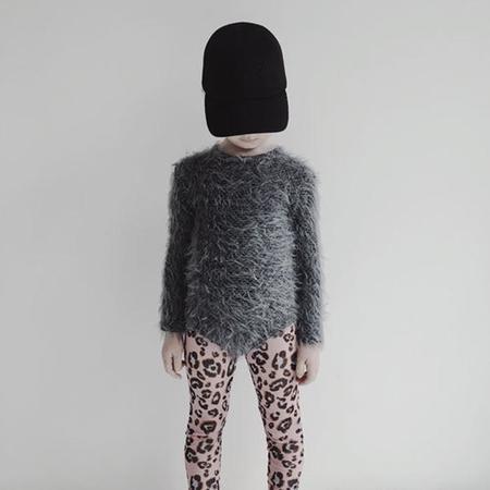 Kids Caroline Bosmans Cheetah Printed Mesh Leggings - Pink