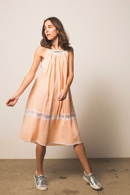 Preservation Cotton Dress - Peach