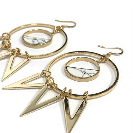 Marijke Bouchier Circle Zig Zag Earrings