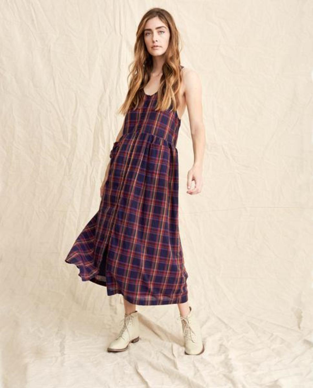 3d9ec09dfa789 The Great. The Harvest Dress - CANDY PLAID